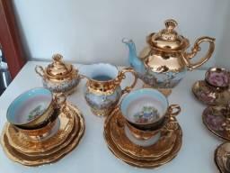 Conjunto de chá de porcelana