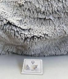 Brinco zircônia prata 925