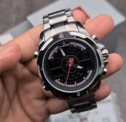 10x Sem Juros Relógio Esportivo Naviforce Analógico Digital Dual Time