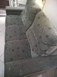 Rack e sofá