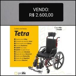 Cadeira de Rodas Prolife Tetra + Cadeira de Banho Della Med