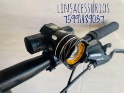 Farol Bike  15000 Lumens Led T6 Bateria Usb y