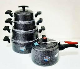 Jogo de Panela com 04 peças+ panela de pressão de 4 litros