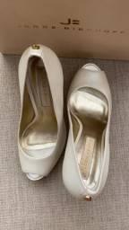 Sapato Branco Perolado Jorge Bischoff Noiva