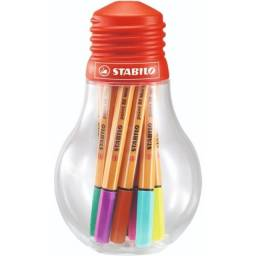 estojo caneta stabilo - point 88 mini colorful ideas