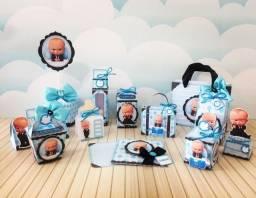 """Mini Kit Festa 40 Peças Personalizadas Tema """"Poderoso Chefinho"""""""