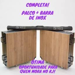 Pole Dance Barra + Palco Desmontável Giratório Marca Gaia Pole