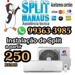 Título do anúncio: Instalação de split instalador de split limpeza de split limpeza de split
