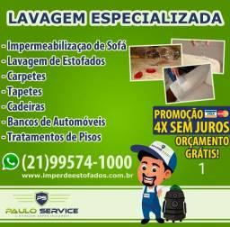 Lavagem de Estofados - Promoção 4 x Cartão