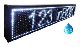 Letreiro digital luminoso led branco grande 100x20cm, a prova d'água. (Novíssimo)