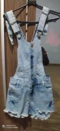 Jardineira jeans feminina tamanho 36
