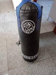 Saco De Pancada Profissional Muay Thai *cheio* + Par De Luva Bate Saco