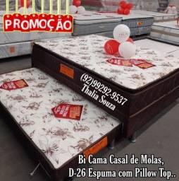Título do anúncio: }{ Bi cama Casal de molas D26 //frete grátis Atacado e Varejo :;;