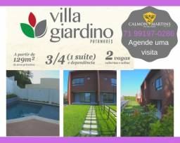 Casas Villa Giardino, 3 quartos 129m² e 2 vagas - Oportunidade !