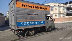 Fretes e Mudanças - Caminhão baú e Kombi