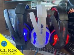 Headset Gamer KP-396 + Adaptador para PS4 Xbox PC Celular