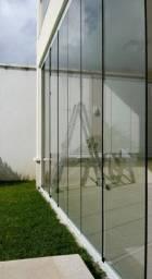 Venda e instalação de cortina de vidro Pergolado e Versatick