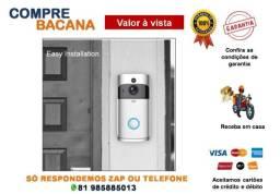 Campainha Eletrônica com Câmera 720p Câmera Wifi Vídeo Visual