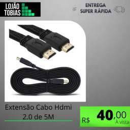 Título do anúncio: Extensão Cabo Hdmi 2.0 de 5M