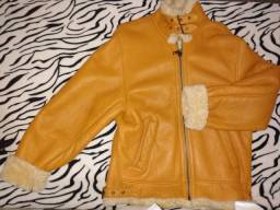 Jaqueta de couro macio , unisex