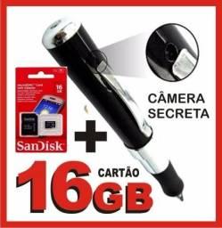 Caneta Espia 16gb Camera Mais Cartão Skandisk