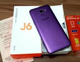 Samsung J6 tela infinita 32gb violeta NoVo nota fiscal e garantia
