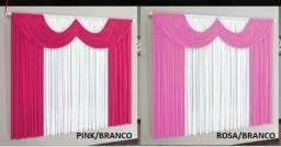VENDO lindas cortinas de Malha GEL Novas