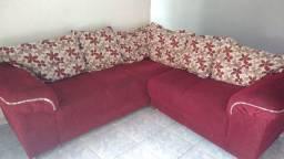 Sofá de canto vermelho em Santo Antônio da Platina
