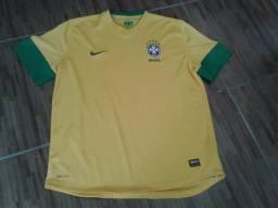 7cc7f65863 Camisa Seleção Brasileira de 2006 Nike Dri Fit Tamanho G Unissex