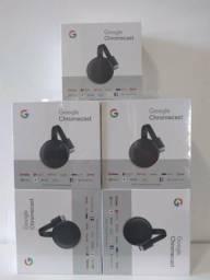 Chromecast 3 original, cx lacrda, entrega a domicílio