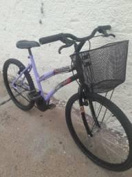 Bicicleta aro 24 media feminina muito linda