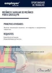 Mecânico e Auxiliar de Mecânico