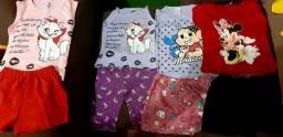 Conjuntos Infantís femeninos e masculinos de ótima qualidade 100% algodão