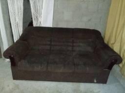 Jogo de sofa em Chenille Marron