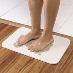 Tapete De Banheiro Dry Feet Cinza 47 X 30 cm - Casa & Conforto DE 129 POR 40