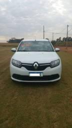 Renault Sandero Expression 1.0 Branco 4 portas com Midia 2019 completo