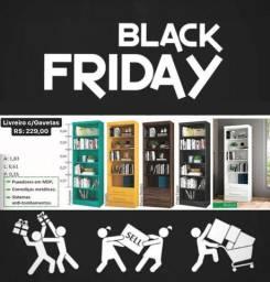 Livreiro promocional Black Friday decoração p/ seu escritório
