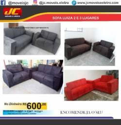 Sofa Luiza 2 e 3 lugares direto de fabrica o