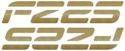 Adesivo Aba/carenagem Tanque Yamaha Fz25 Fazer 250 Dourado