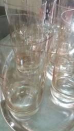 Copos cristal bordado