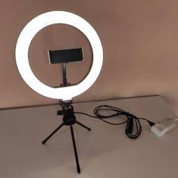 *Super Promoção*Ring Light Novo 20cm USB Led + Tripe + Suporte de celular