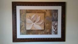 Quadro grande gravura floral