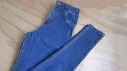 Calça jeans bruna azul escura