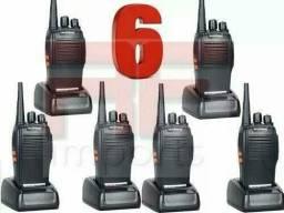 Kit 6 Radio Comunicador Walk Talk Baofeng 777s Alcance Até 8km