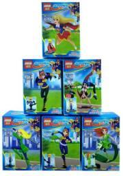 Bloco De Montar Super Hero Girls Kit 6x Minifigures Diferentes