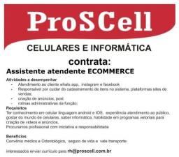 Contrata-se atendente e-commerce