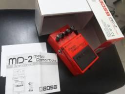 Boss MD-2 Mega Distortion novo com Caixa e tags