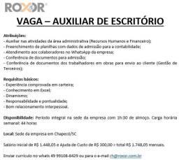 Título do anúncio: Auxiliar de Escritório (Chapecó/SC)
