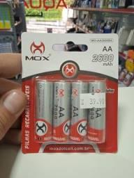 Pilhas Recarregáveis AA 2600mAh 4 Unidades