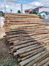 Escora de laje e palanque de eucalipto